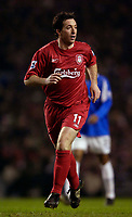 Photo: Jed Wee.<br />Liverpool v Birmingham City. Barclays Premiership. 01/02/2006.<br />Liverpool's Robbie Fowler makes his return.