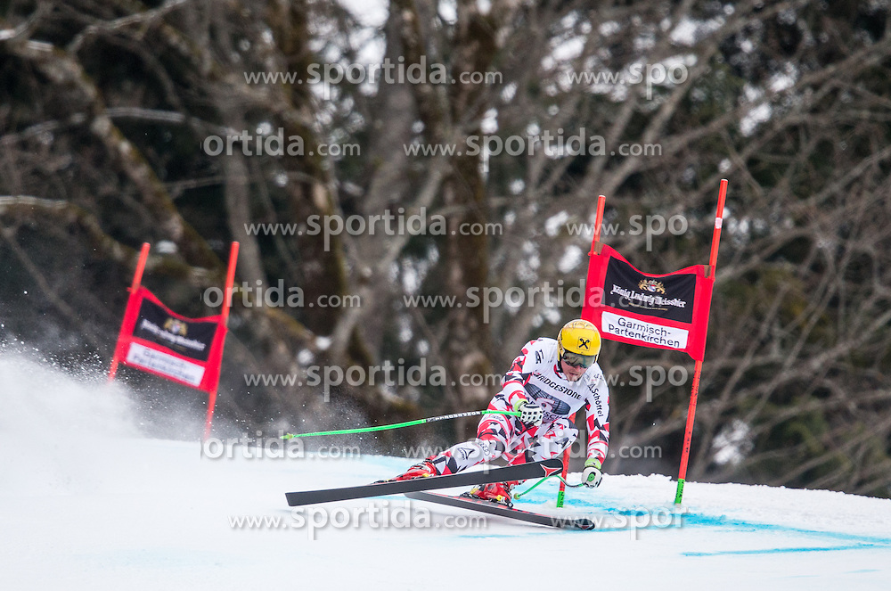 27.02.2015, Kandahar, Garmisch Partenkirchen, GER, FIS Weltcup Ski Alpin, Abfahrt, Herren, 2. Training, im Bild Max Franz (AUT) // Max Franz of Austria in action during the 2nd trainings run for the men's Downhill of the FIS Ski Alpine World Cup at the Kandahar course, Garmisch Partenkirchen, Germany on 2015/27/02. EXPA Pictures © 2015, PhotoCredit: EXPA/ Johann Groder