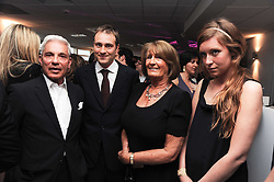 Left to right, SIMON REUBEN, BEN GOLDSMITH, LADY ANNABEL GOLDSMITH and KATE GOLDSMITH at The Reuben Foundation and Virgin Unite Haiti Fundraising dinner held at Altitude 360 in Millbank Tower, London on 26th May 2010.