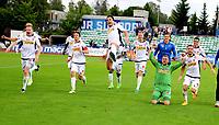 Fotball , 6 . august 2017 , Eliteserien , <br /> Stabæk - Sandefjord 1-3<br /> jubel  av blant annet Joackim Solberg Olsen , Ingvar Jonsson , Pau Morer , Enric Prat  , Håvard Storbæk  SF