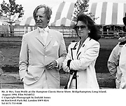 Mr. & Mrs. Tom Wolfe at the Hampton Classic Horse Show. Bridgehampton, Long Island. August 1994. Film 94340f12<br />