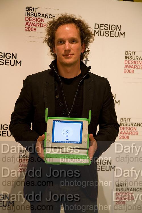 YVES BEHAR, Brit Insurance Design Awards. Design Museum. London. 18 March 2008.  *** Local Caption *** -DO NOT ARCHIVE-© Copyright Photograph by Dafydd Jones. 248 Clapham Rd. London SW9 0PZ. Tel 0207 820 0771. www.dafjones.com.