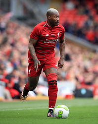 Liverpool's Djibril Cisse during the Legends match at Anfield Stadium, Liverpool.