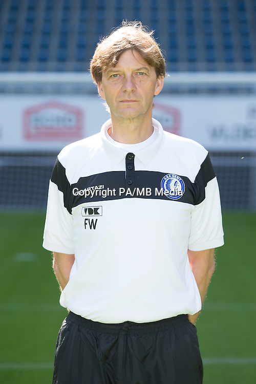 Gent's physiotherapist Frank Wezenbeek pictured during the 2015-2016 season photo shoot of Belgian first league soccer team KAA Gent, Saturday 11 July 2015 in Gent.