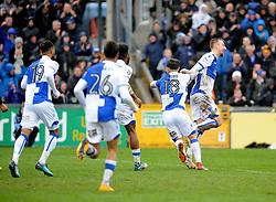 Bristol Rovers celebrate the equaliser from Dom Telford - Mandatory by-line: Neil Brookman/JMP - 30/03/2018 - FOOTBALL - Memorial Stadium - Bristol, England - Bristol Rovers v Bury - Sky Bet League One