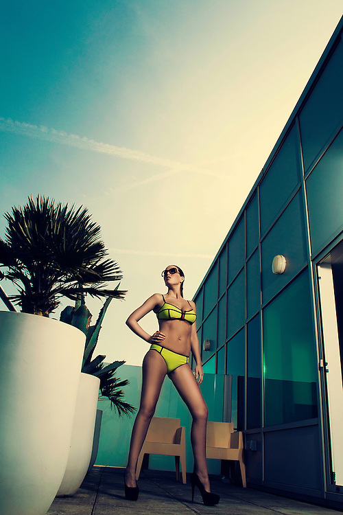 Vicky B, photographed at Altostratus Penthouse, wearing TYR Sport