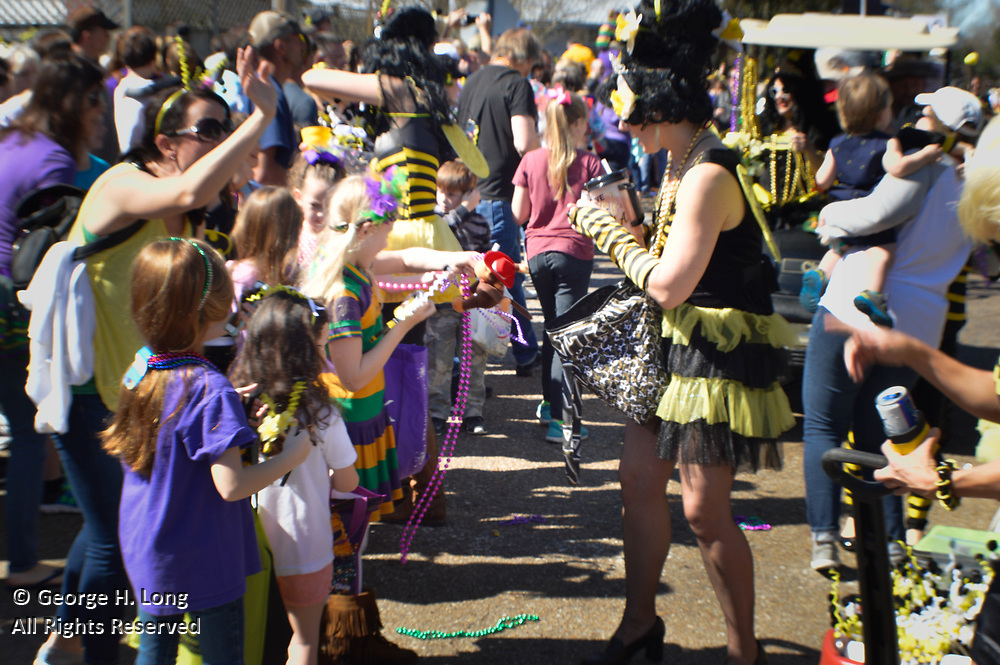 Abita Springs Push Mow Parade on Febrary 18, 2017; sponsored by the Abita Springs Trailhead Museum