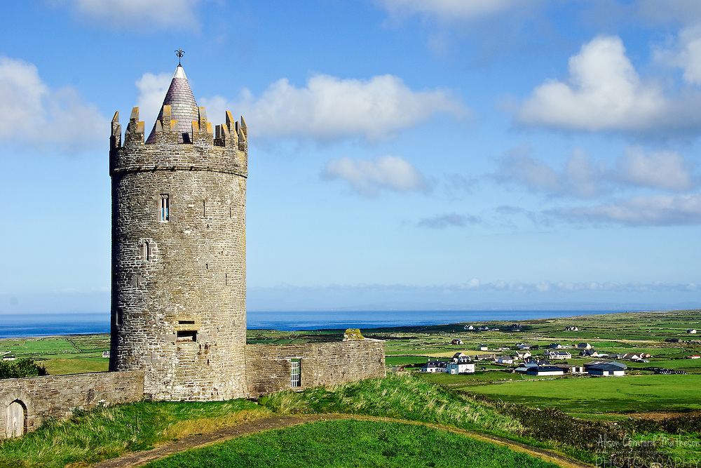 Doonagore Castle, in Doolin, Ireland is a 16th century tower house that overlooks the village.