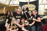DJ Tony Fenton with the Waterford HEN party at the Budweiser Ice Cold Summer BBQ, broadcast live on the Tony Fenton Show at The Galway Bay Hotel in Salthill. Photo:Andrew Downes.. .Both Duke Special and The Divine Comedy performed at the summer kick-off party and Today FM's Tony Fenton Show broadcast live from the hotel all afternoon...The 150 invited guests included Today FM listeners ad Budweiser Ice Cold Facebook fans from all over the country. Guests also won the chance to win a cool Grand in cash, meet Mr. Iceman and of course enjoy a pint of Budweiser Ice Cold, the coldest pint ever!..Enjoy Budweiser Ice Cold sensibly visit www.drinkaware.ie ..This event was strictly over 18's,..-ENDS-..FOR FURTHER INFORMATION PLEASE CONTACT:.Killian Burns / Aoiffe Madden..Killian.burns@ogilvy.com / aoiffe.madden@ogilvy.com.WHPR..Tel: 01 6690030.