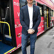 Philipp Ertl from Austria attend The Mayor of London, Sadiq Khan, launch a branded 'We are all Londoners' bus as it begins a four-day 'Advice Roadshow' around the capital. The bus will visit locations in areas with high numbers of European nationals, offering them guidance on how to apply for Settled to Status to remain in the UK following Brexit on 29 March 2019, London, UK.