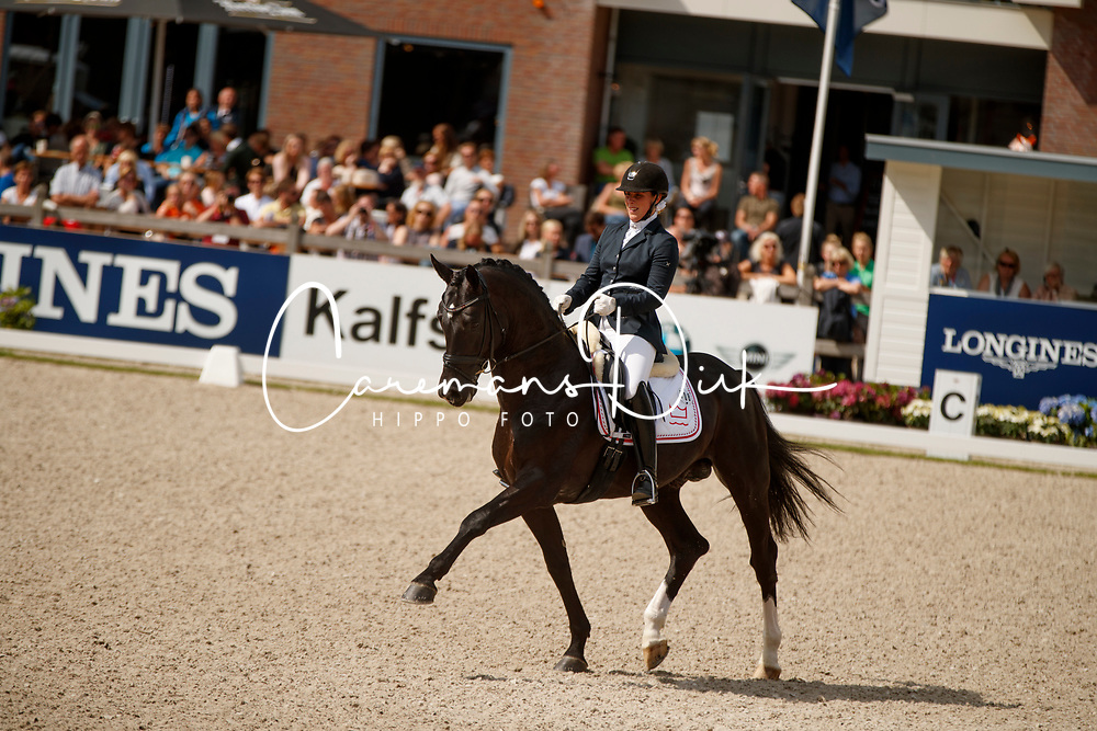 Hosbond Anne Marie, DEN, Straight Horse Don Tamino<br /> Longines FEI/WBFSH World Breeding Dressage Championships for Young Horses - Ermelo 2017<br /> &copy; Hippo Foto - Dirk Caremans<br /> 06/08/2017