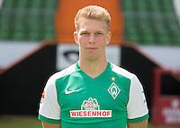 German Soccer Bundesliga 2015/16 - Photocall of Werder Bremen on 10 July 2015 in Bremen, Germany: Janek Sternberg