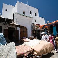 Mattress store in the souk, Tetouan, Morocco