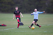Kettledrum (red and black) v FC Boukir (light blue and white) in the Dundee Saturday Morning Football League at Riverside, Dundee, <br /> <br />  - © David Young - www.davidyoungphoto.co.uk - email: davidyoungphoto@gmail.com