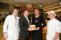 Paul and Edward Horgan from Horgan's Delicatesses Supplies , Connacht Rugby's Gavin Duffy, and Mark Spitzer, Joyce's Supermarket fresh Food manager at the opening of Horgan's Delicatessen Suppliers' first ever Food Emporium at Joyce's Supermarket, Knocknacarra, Co Galway.  The initiative marks Horgan's first Food Emporium Concept Store and cements a longstanding relationship with Joyce's Supermarket Group..Photo:Andrew Downes