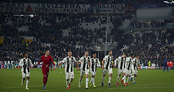 November 27, 2018 - Turin, Italy - Juventus players celebrates the victory at the end of the UEFA Champions League match between Juventus and Valencia CF at Allianz Juventus Stadium  in Turin, Italy on November 27, 2018  (Credit Image: © Jose Breton/NurPhoto via ZUMA Press)