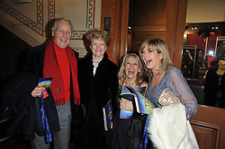 Left to right, NICHOLAS & ANNIE PARSONS, INGRID TARRANT and PENNY SMITH at the opening night of Totem by Cirque du Soleil held at The Royal Albert Hall, London on 5th January 2011.