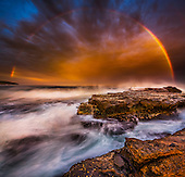 Amazing Rainbow Sunset, Gerringong, Australia