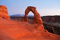 UT00115-00...UTAH - Delicate Arch in Arches National Park.