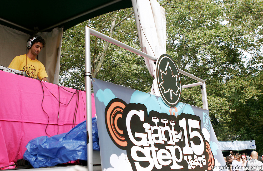 DJ Nickodemus performs as Giant Step celebrates its 15th Anniversary at Central Park SummerStage on July 17, 2005.