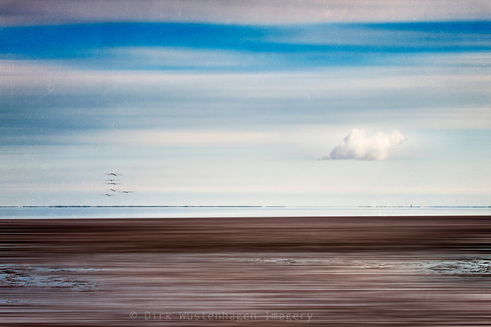 Abstraction of tidal flats on the coast of the german North Sea coast.