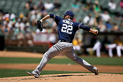 OAKLAND, CA - JUNE 18:  Ian Kennedy #22 of the San Diego Padres pitches against the Oakland Athletics during the second inning at O.co Coliseum on June 18, 2015 in Oakland, California. The San Diego Padres defeated the Oakland Athletics 3-1. (Photo by Jason O. Watson/Getty Images) *** Local Caption *** Ian Kennedy