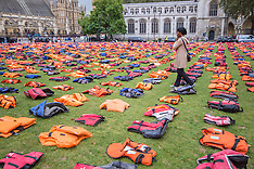 "2016-09-19 Reguees ""Lifejacket Graveyard in Parliament Square"