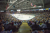 KELOWNA, CANADA - MAY 11: A record full house at the Kelowna Rockets against the Brandon Wheat Kings on May 11, 2015 during game 3 of the WHL final series at Prospera Place in Kelowna, British Columbia, Canada.  (Photo by Marissa Baecker/Shoot the Breeze)  *** Local Caption ***