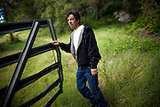 Jim Brenner walks through a pasture on Brenner Ranch in Newcastle, CA April 29, 2010.