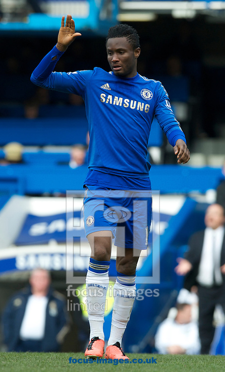 Picture by Alan Stanford/Focus Images Ltd +44 7915 056117.07/04/2013.John Mikel Obi of Chelsea  during the Barclays Premier League match at Stamford Bridge, London.
