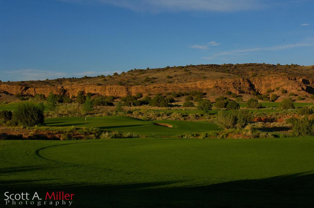Albuquerque, N.M.:  July 9, 2006 -  No. 11 on the Twin Warriors Golf Club in Santa Ana Pueblo, N.M...                ©2006 Scott A. Miller