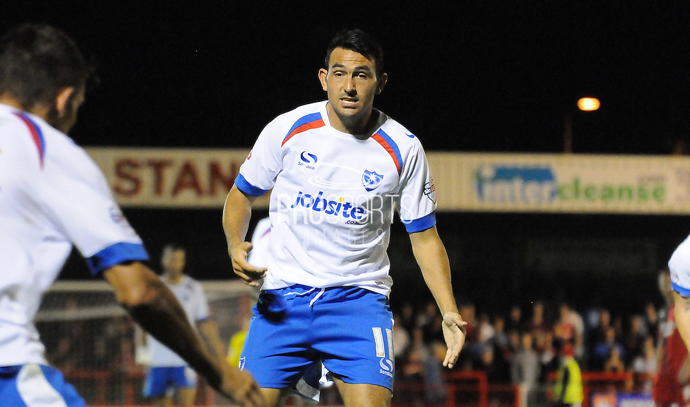 Gary Roberts calling for the ball during the Sky Bet League 2 match between Crawley Town and Portsmouth at the Checkatrade.com Stadium, Crawley, England on 18 August 2015. Photo by Michael Hulf.