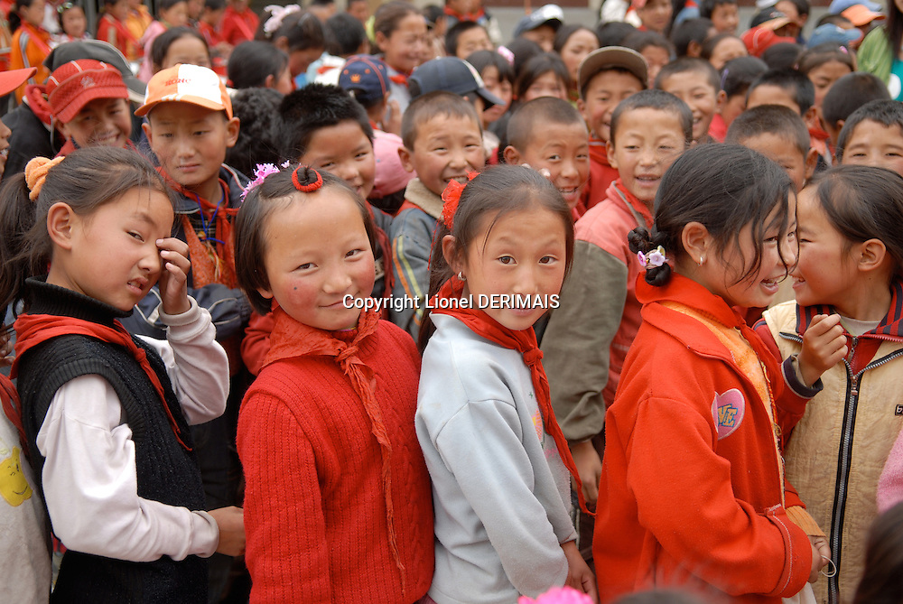 Children in a Sichuan school, Aba county, China.