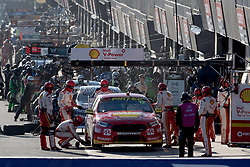 October 7, 2018 - Bathurst, NSW, U.S. - BATHURST, NSW - OCTOBER 07: Fabian Coulthard / Tony D'Alberto in the Shell V-Power Racing Team Ford Falcon prefer a pit stop during warm-up for the Supercheap Auto Bathurst 1000 V8 Supercar Race at Mount Panorama Circuit in Bathurst, Australia. (Photo by Speed Media/Icon Sportswire) (Credit Image: © Speed Media/Icon SMI via ZUMA Press)