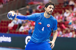 10.04.2016, Ergo Arena, Gdansk, POL, IHF Herren, Olympia Qualifikation, Chile vs Mazedonien, im Bild Erwin Feuchtmann // during the IHF men's Olympic Games handball qualifier between Chile and Macedonia at the Ergo Arena in Gdansk, Poland on 2016/04/10. EXPA Pictures © 2016, PhotoCredit: EXPA/ Newspix/ Tomasz Zasinski<br /> <br /> *****ATTENTION - for AUT, SLO, CRO, SRB, BIH, MAZ, TUR, SUI, SWE only*****