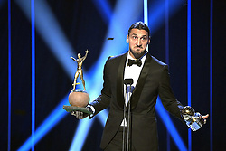 November 21, 2016 - Stockholm, Sweden - Zlatan Ibrahimovic is rewarded with the Golden Ball for 11th time, ten years in a row, he will also become a statue at Friends Arena. Swedish football gala 2016 (Credit Image: © Aftonbladet/IBL via ZUMA Wire)