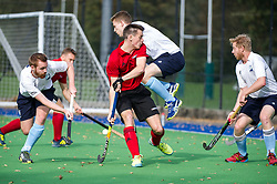 West Herts v Southgate - Men's Hockey League East Conference, New Field, Watford, UK on 15October 2017. Photo: Simon Parker