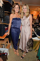 Left to right, NATALIE PINKHAM and DONNA AIR at a party to celebrate the paperback lauch of The Stylist by Rosie Nixon hosted by Donna Ida at her store at 106 Draycott Avenue, London on 17th August 2016.