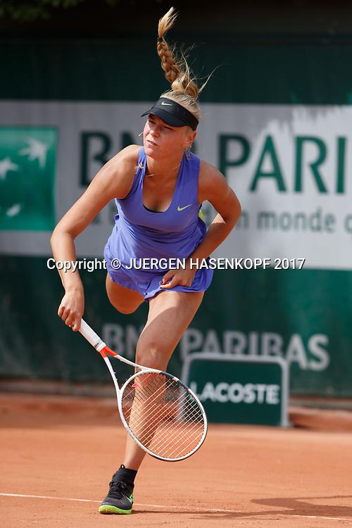 OLESYA PERVUSHINA (RUS) Junior Girls<br /> <br /> Tennis - French Open 2017 - Grand Slam / ATP / WTA / ITF -  Roland Garros - Paris -  - France  - 4 June 2017.