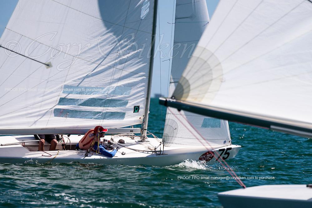 827 Star Class sailing in Bacardi Miami Sailing Week, day one.