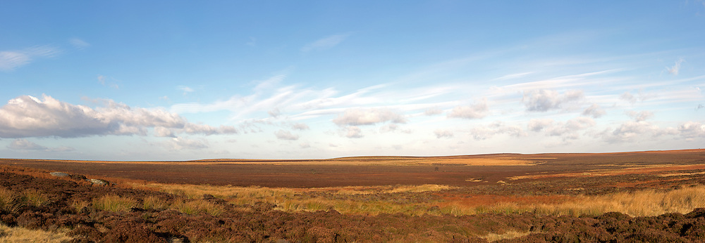 panoramic view of open moorland