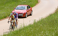 Vladimir Kerkez and Tomaz Nose at Slovenian National Championships in Road cycling, 178 km, on June 28 2009, in Mirna Pec, Slovenia. (Photo by Vid Ponikvar / Sportida)