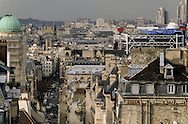 France. Paris. elevated view. Paris and Saint jacques street . view from Saint jacques du haut pas church bell tower.