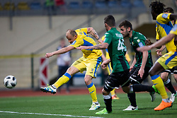 Sanijad Ibracic of NK Domzale during football match between NK Domzale and NK Rudar in Round #28 of Prva liga Telekom Slovenije 2017/18, on April 22, 2018 in Sports Park Domzale, Domzale, Slovenia. Photo by Urban Urbanc / Sportida