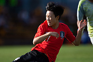 SYDNEY, NSW - FEBRUARY 28: Korean player Hwayeon Son (17) scores on her way to the ground at The Cup of Nations womens soccer match between Argentina and Korea Republic on February 28, 2019 at Leichhardt Oval, NSW. (Photo by Speed Media/Icon Sportswire)