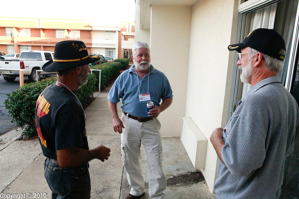Jerry Hogan, Monty Cates, Bob Holt - B Troop..2010 Bullwhip Squadron Reunion in Columbus, Georgia. (Photo by Jeremy Hogan)