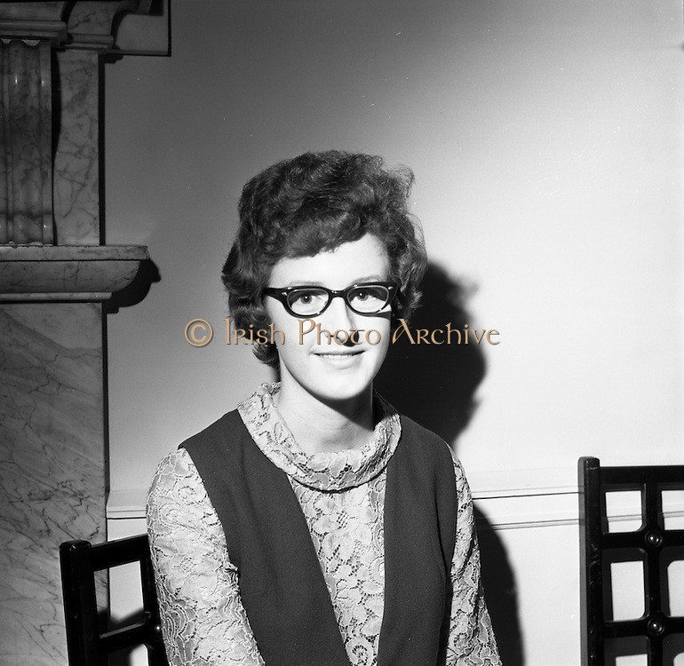 23/11/1964<br /> 11/12/1964<br /> 23 November 1964<br /> <br /> 19 Sales Girls from various parts of Ireland, at a Presentation in the Royal Hibernian Hotel <br /> <br /> Miss Marie Duffin, Bolgeis Stores, Dublin