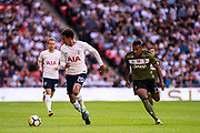Tottenham Hotspur (20)	Dele Alli, Juventus (12) Alex Sandro during the Pre-Season Friendly match between Tottenham Hotspur and Juventus FC at Wembley Stadium, London, England on 5 August 2017. Photo by Sebastian Frej.