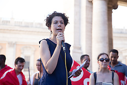 July 13, 2017 - Roma, RM, Italy - Demonstration of the movements for the right to housing at the Capitol in Rome. (Credit Image: © Matteo Nardone/Pacific Press via ZUMA Wire)