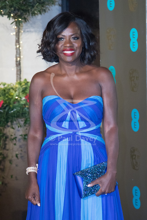 Photo Must Be Credited ©Alpha Press<br /> Viola Davis arrives at the EE British Academy Film Awards after party dinner at the Grosvenor House Hotel in London.
